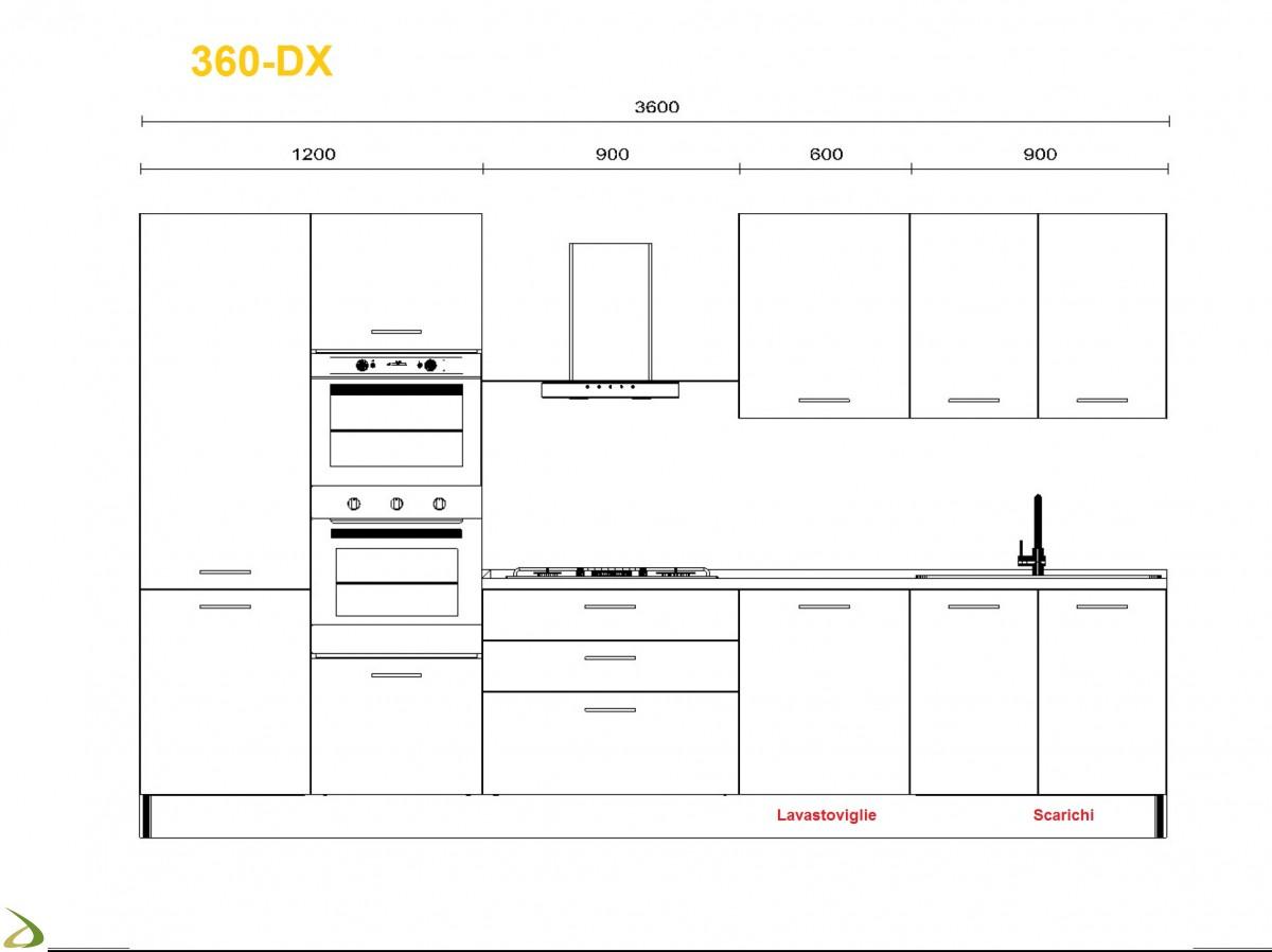 Cucina alma con lavastoviglie microonde creo kitchens - Dimensioni standard mobili cucina ...